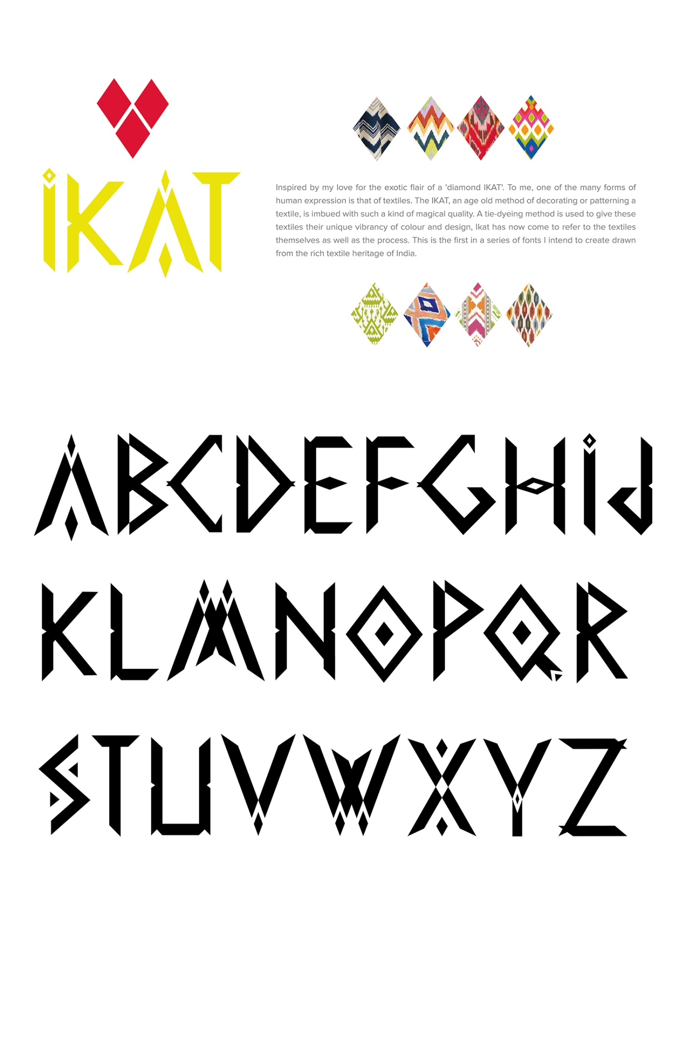 The Ikat Display Font design