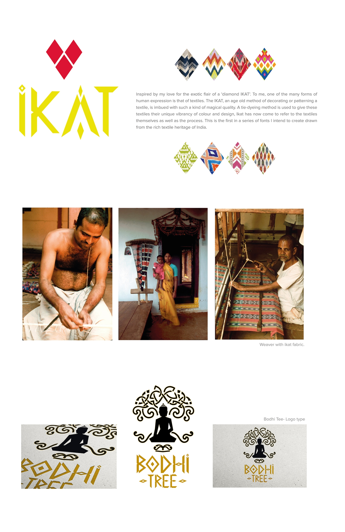 Ikat font design, typography, type design, Mathanki, graphic design